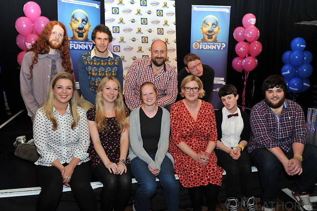 Finalists with guest judge Sarah Millican